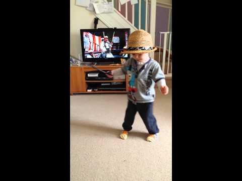 Logan dancing to me ol bamboo