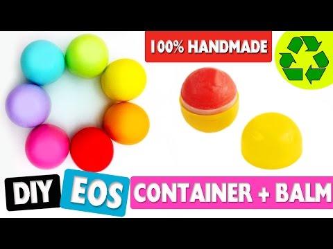 DIY   Make an EOS Container + Lip Balm 100% Handmade