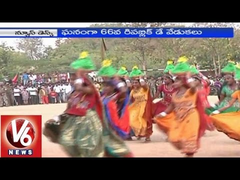 Republic Day Celebrations reach sky high in Telangana Districts (26-01-2015)