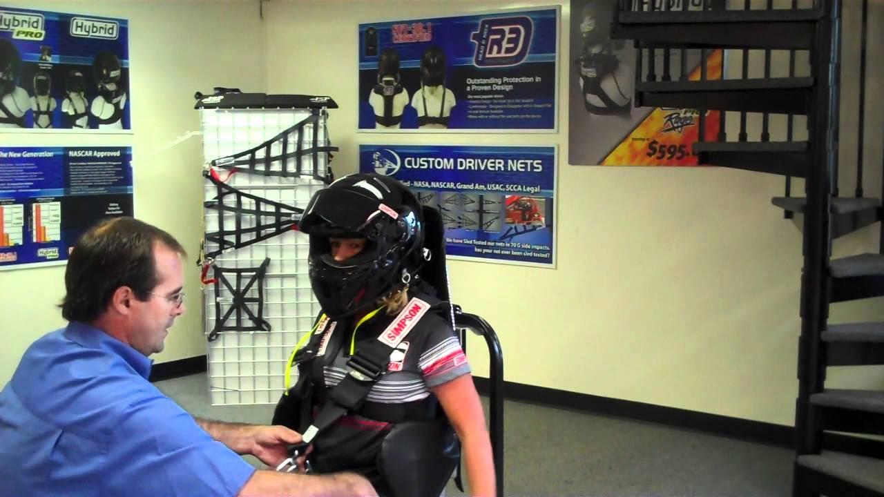Simpson SFI 38.1 Head REstraint Tutorial with Trevor ...