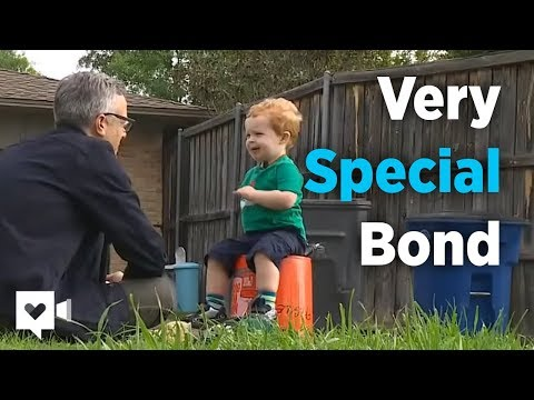 2-year-old and garbage man's special bond is priceless