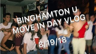 college move-in day vlog (binghamton university)