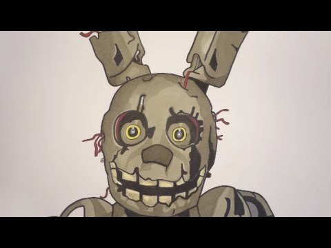How To Draw Springtrap From Five Nights At Freddy's 3 Step By Step