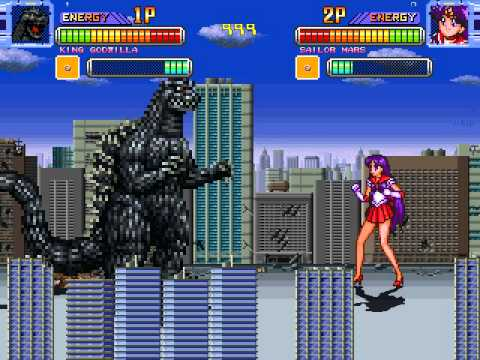 Friend Request Mugen Fight One - Sailor Mars and King Godzilla
