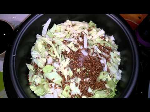 Как приготовить вкусное и легкое блюдо в мультиварке. Гречка, капуста и куриная грудка