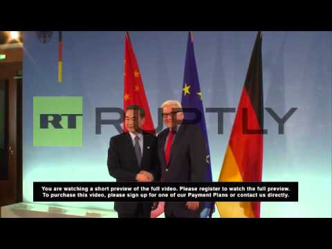 Germany: Chinese FM meets Steinmeier in Berlin