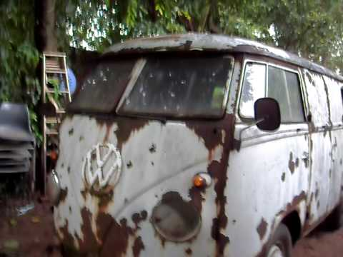 1955 VW T1 VOLKSWAGEN SPLITTY SPLITSCREEN PANELVAN SOUTH AFRICA CARLETONVILLE KASTENWAGEN - YouTube