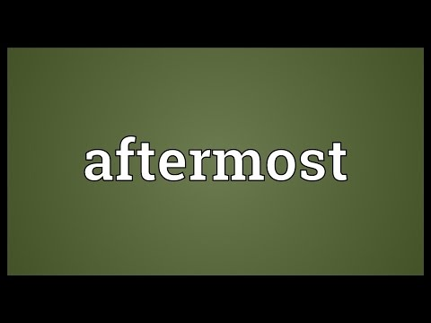 Header of aftermost