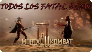 Mortal Kombat 11   Todos los Fatal Blow   1080p 60FPS