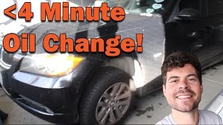 HOW TO CHANGE YOUR OIL IN LESS THAN 4 MINUTES!