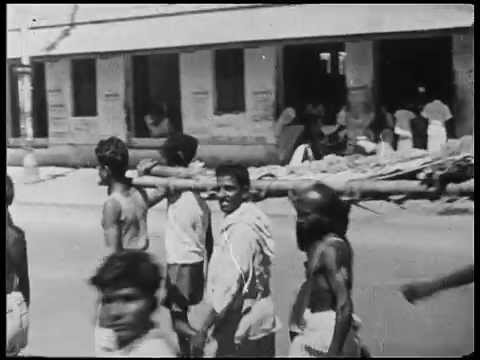 Old Madurai, South India, in 1945 and now