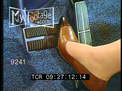 Stock Footage - Gas Pedal, Woman