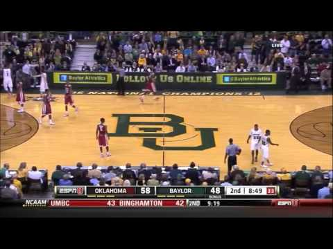 Young kid runs onto the court during a Baylor basketball game