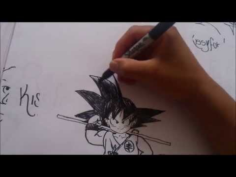 Hentai Uncensored Dragon Ball Draw A Pulso El Pequeño Goku 1#boceto X Db video