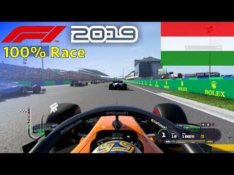 F1 2019 - 100% Race at Hungaroring in Sainz' McLaren Renault