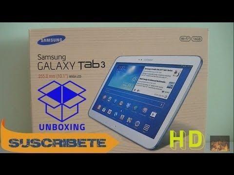 Samsung Galaxy Tab 3 10.1 Unboxing   ESPAÑOL