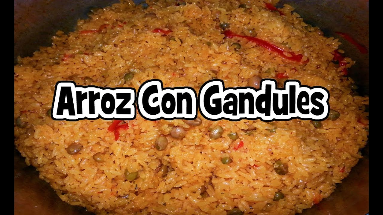 Arroz Con Gandules | Rice with Pigeon Peas - YouTube
