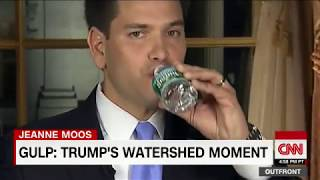 President Trump sips water during speech like Rubio