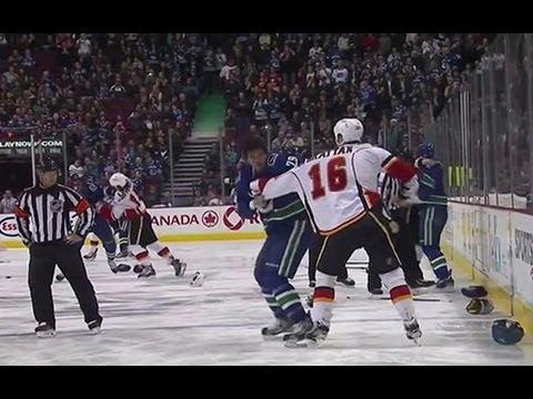 Breaking Down The Canucks-Flames Line Brawl