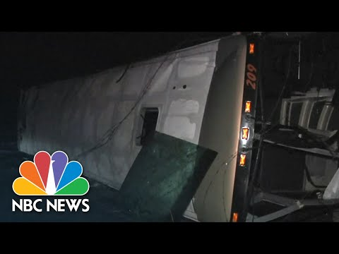 Students Escape Serious Injury As Bus Carrying Marching Band Overturns | NBC News