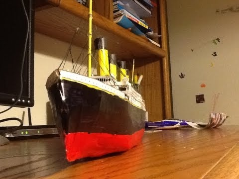 Titanic Paper Model Tutorial