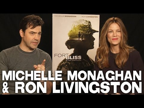 Michelle Monaghan & Ron Livingston Talk FORT BLISS and What They Look for in Scripts