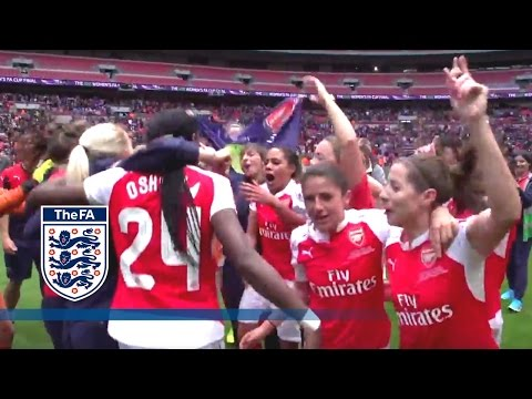 Arsenal Ladies Celebrate on Pitch After Winning 2016 FA Cup | Inside Access