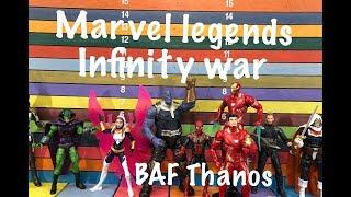 Marvel Legends INFINITY WAR BAF THANOS wave action figures toy review