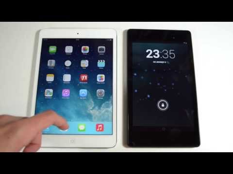 Retina iPad mini 2 vs Nexus 7 2013 - Size. Performance. Browser. Gaming Comparison