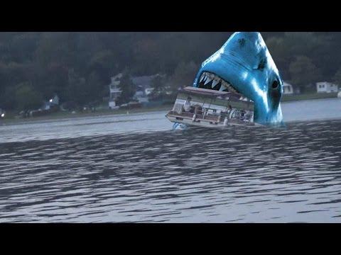 Megalodon Shark Attacks Boat Caught On Tape!