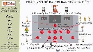 Cách bài trí bàn thờ gia tiên - Mỹ Nghệ Hải Minh