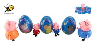 Peppa Pig Surprise Egg Candy Toys Unbox 페파피그 서프라이즈 에그 ペッパピッグ サプライズ エッグ