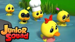 пять маленьких уток   детская музыка   потешки   Junior Squad Russia   мультфильмы