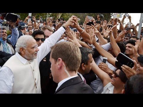 Supporters Await For Narendra Modi In Sydney