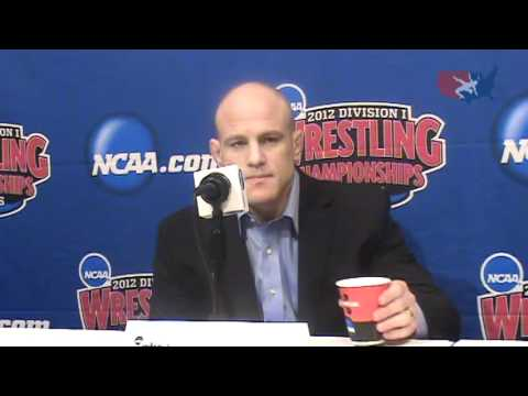 Penn State head coach Cael Sanderson after the NCAA Championships Image 1