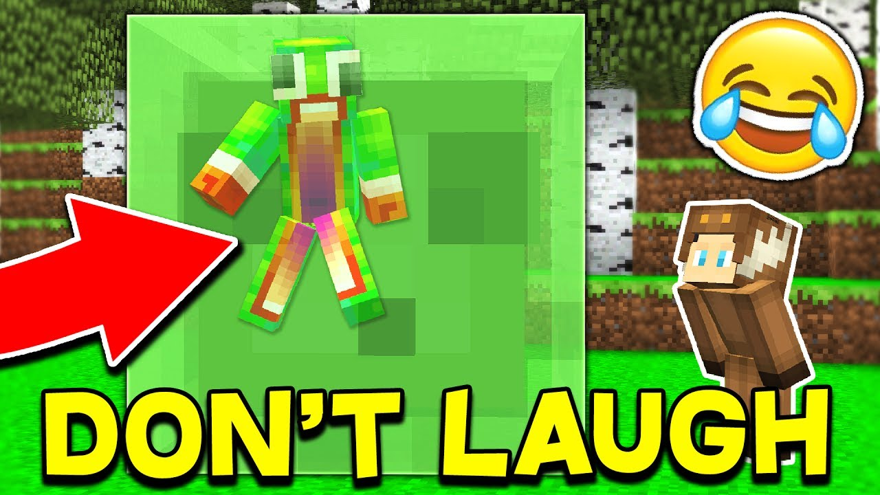 TRY NOT LAUGH CHALLENGE... WITH UNSPEAKABLEGAMING & MOOSECRAFT! (Minecraft Edition)