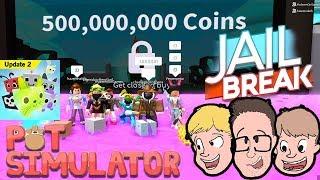 *UNLOCKING 500,000,000 AREA* Pet Simulator & Jailbreak   Family Friendly Gaming   Roblox Live Stream