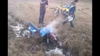 Honda MTX125 Fail - Attempt to cross the mud hole  Dirtbike ...