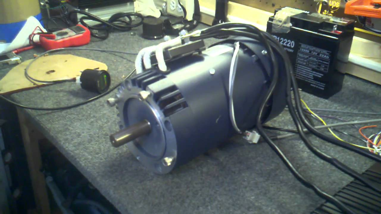 Ac 15 electric motor bench test youtube for How to check ac motor