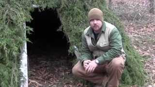 Pimping Your Survival Shelter Part 1 Alpine Debris Bed