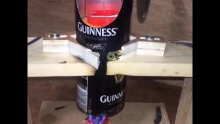 Stirling engine made from empty cans