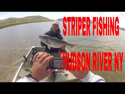 Hudson River Striper Fishing 4-17-2012- Nice first fish of year
