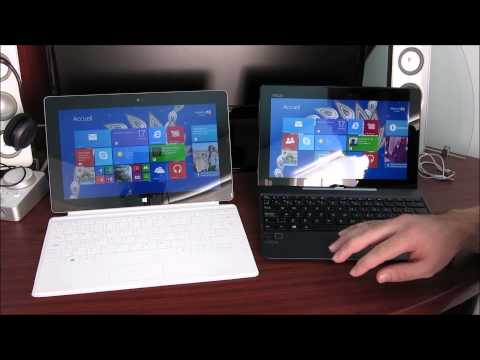 Microsoft Surface 2 vs Asus Transformer T100