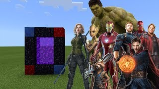 PORTAL to the AVENGERS Infinity War Dimension | Minecraft PE