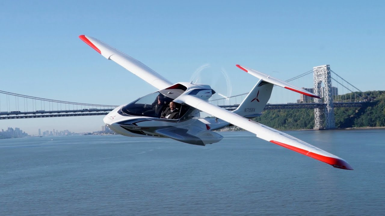 Fold-Up Plane Is Designed for Personal Fun: Icon A5 - YouTube