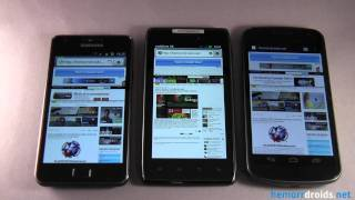 Motorola Razr VS Galaxy S2 VS Galaxy Nexus Browser Test