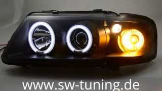 SW-CCFL Angel Eye Scheinwerfer A3 8L Black SW-Tuning