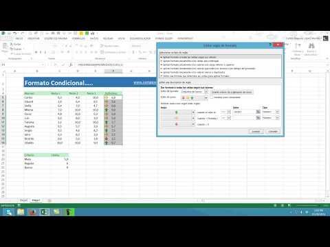 Formatos condicionales con Iconos en Excel