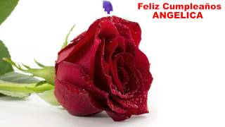 Angelica_English - flowers - Happy Birthday