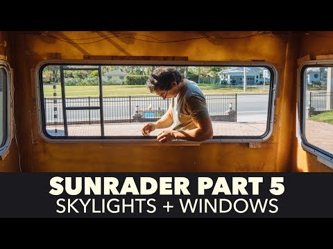 Toyota Sunrader 4x4 Build Part 5 - Roof Vents and Windows